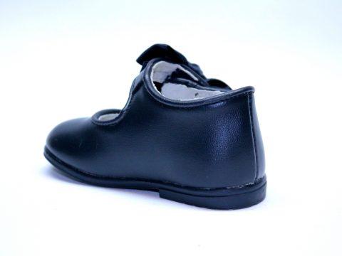 Zapato niña piel azul marino.