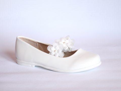 Zapato niña blanco ceremonias.